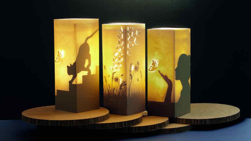 Lampes en papier