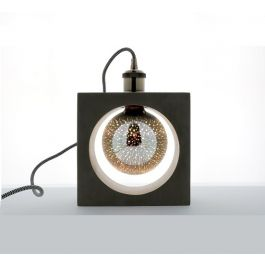 Lampe carrée à poser en béton Douille E27. 40W max