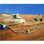 Guirlande Guinguette Verte avec 5 ampoules LED multicolores 5m