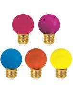 """""""Paris Guinguette"""" - Lot de 5 - Ampoules LED E27 1W IP44 - Colorées Pop"""