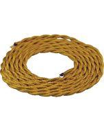 Câble textile torsadé 2 mètres Or