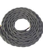 **DIY** Cable torsadé gris 2 mètres 2 x 0,75mm2