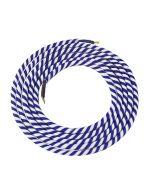 Câble textile rond 2 mètres Spirale Bleu & Blanc
