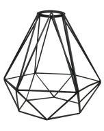 Abat-jour Cage métal H.21cm- Noir
