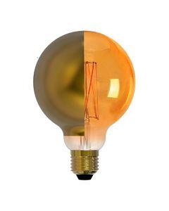 Ampoule Globe calotte latérale DORÉE LED 8W E27 Blanc chaud Dimmable