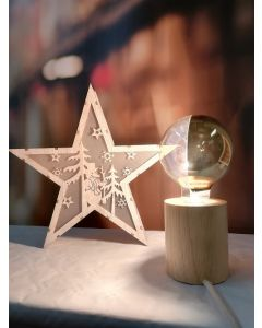 Ampoule Globe calotte latérale DORÉE filament LED 8W E27 Blanc chaud Dimmable