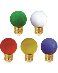 """Paris Guinguette"" - Lot de 5 - Ampoules LED E27 1W IP44 - colorées classique"