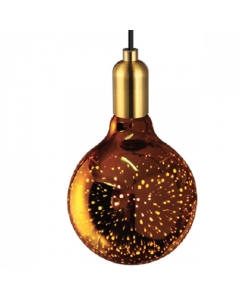 """Ampoule Globe """"COSMOS"""" 3D LED 4W E27 - Or"""
