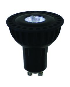Spot LED Cob 8W Gu10 Blanc chaud 600Lm 60° - Noir
