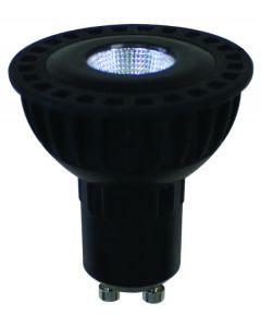 Spot LED Cob 8W Gu10 600Lm 2700K 60° Noir