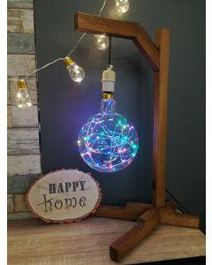 """Ampoule Globe Géant Ø200 """"Happy in"""" 1,5W E27 Guirlande Multicolore"""