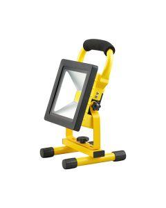 Projecteur LED portatif rechargeable 20W - Blanc froid
