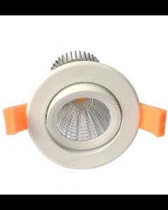 Spot LED encastré inclinable IP65 10W Blanc chaud