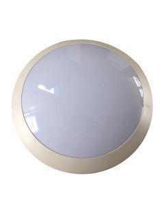 Plafonnier IP66 (Ø300x100mm) E27 18W max. - Blanc