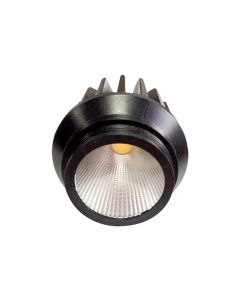 Spot encastré LED et dévissable Ø66x75mm 10W 3000K 850lm 36° noir