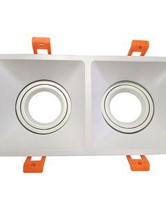 Enjoliveur pour spot encastréLED et dévissable 205x105x113mm Blanc