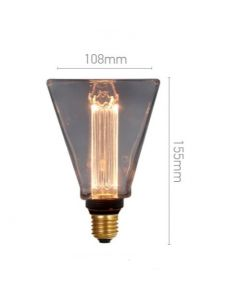 Ampoule Déco Triangle Smokey LED