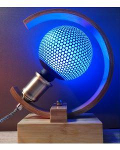 Ampoule Déco Globe Bleu Imprimé Hexagone 3.5W