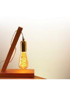 Kit: Luminaire en bois + Ampoule filament LED torsadé 5W
