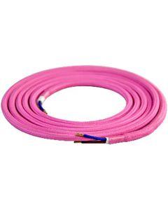 Câble textile rond 2 mètres Rose