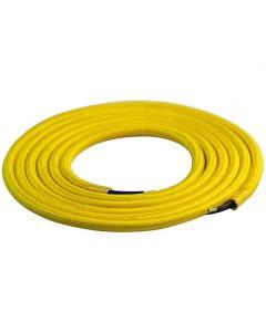 Câble textile rond 2 mètres Jaune