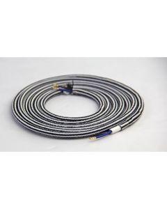 Câble textile rond 2 mètres Noir & Blanc
