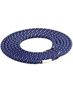 Câble textile rond 2 mètres Mélange de Violet et Blanc
