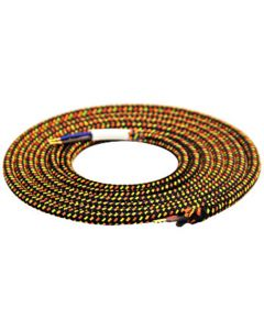 Câble textile rond 2 mètres Mélange de Jaune & Noir