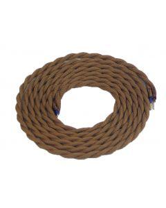 Cable torsadé Marron 2 mètres 2 x 0,75mm2