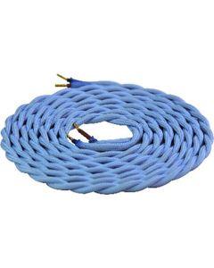 Cable torsadé Bleu ciel 2 mètres 2 x 0,75mm2