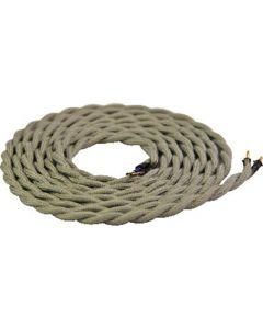 **DIY** Cable torsadé gris clair 2 mètres 2 x 0,75mm