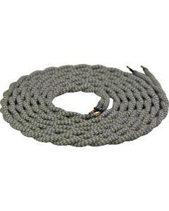 Cable torsadé Blanc et gris 2 mètres 2 x 0,75mm2