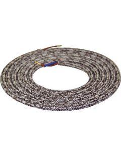 Câble textile rond 2 mètres Mélange de Marron