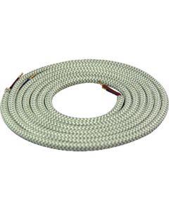Câble textile rond 2 mètres Mélange de Vert & Kaki