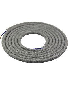 Câble textile rond 2 mètres Gris Foncé