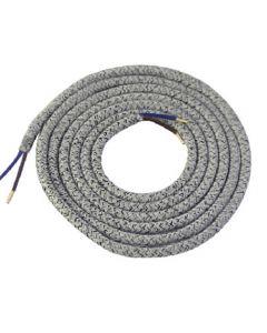 **DIY** Cable rond chiné gris 2 mètres 2 x 0,75mm2