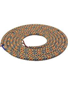 Câble textile rond 2 mètres Fashion