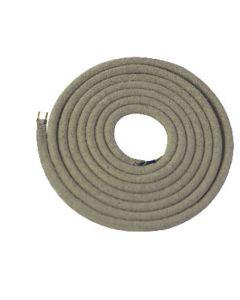 Câble textile rond 2 mètres Ecru chiné