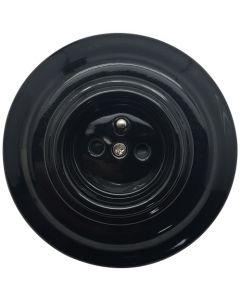 Prise complète avec terre - Porcelaine Noire Vintage