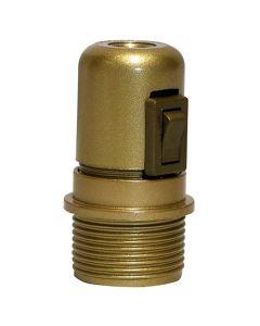 Douille E27 Avec Interrupteur Montée - Or