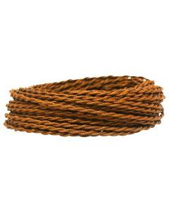 Câble textile torsadé 2x05mm² - Marron