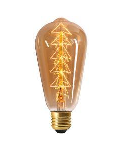 Edison filament métallique Sapin 24W E27 dimmable Ambré