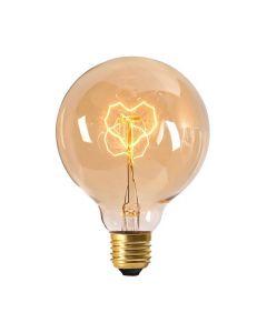 Globe filament métallique Coeur 24W E27 2000K 80Lm dimmable Ambré