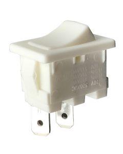 Interrupteur A Bascule Blanc Fixation/Clipsage