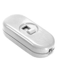 Interrupteur à curseur bipolaire à main Blanc
