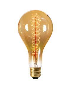 Ampoule Géante à filament métallique spiralé 24W E27 2000K 80Lm dimmable Ambrée