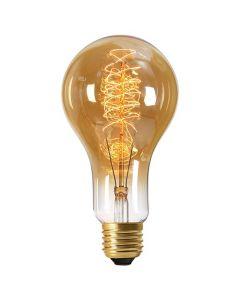 Ampoule Géante filament métallique spiralé 180mm 24W E27 2000K 80Lm dimmable Ambrée