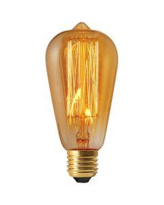 Edison Filament Métallique Droit 24W E27 2000K Ambrée