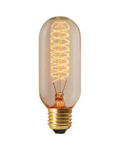 Ampoule Tube filament métallique spiralé 24W E27 Blanc doux clair