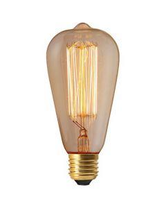 Edison filament métallique droit 24W E27 2200K 100Lm dimmable Claire